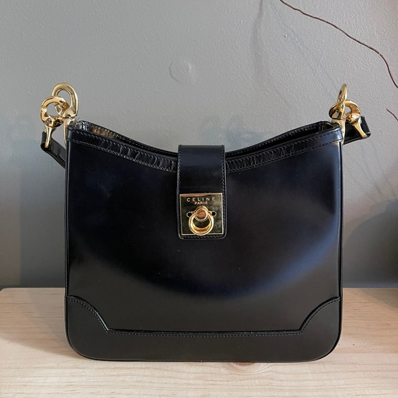 Celine Vintage Calfskin Shoulder Bag